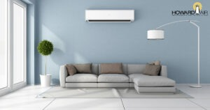 Using many interior heads, a whole house could be cooled and heated with a ductless system. Call Howard Air today.